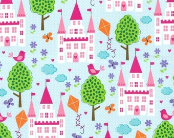 Enchanted Castles - Princess Cotton Print Fabric from Michael Miller