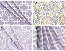 SALE Curtain Valance Topper Window Treatment 52x15 Wisteria Lavender Chevron Damask Geometric Suzani Print Valance