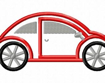 VW Car - Applique - Machine Embroidery Design - 8 Sizes