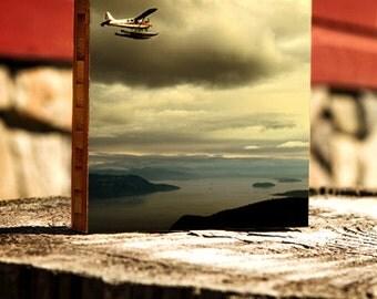 Flying over San Juan islands, airplane, water, flight, washington, wall art, wall decor, photography, seaplane, sea, water, seattle, sanjuan