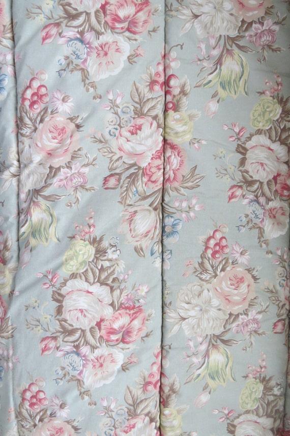 Vintage Ralph Lauren Twin Comforter Charlotte Cabbage Pink