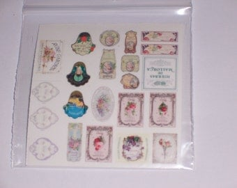 dollhouse perfume labels paper decal