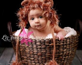 Baby Lion Hat - Newborn Lion Bonnet - Halloween Costume -Baby Hats - Lion Hat - Photo Prop - Lion Costume - Boy Lion Hat - Lion Bonnet