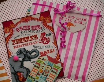 Circus/Carnival Theme Invitation Suite