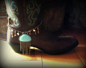 Boot Bracelet with Turquoise Stone and Bangles