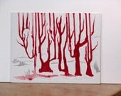 "SFA - ""Blood trees"".  acrylic painting"