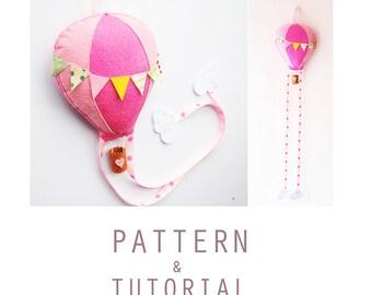 Hot Air Balloon Bow Holder PDF Pattern & Tutorial