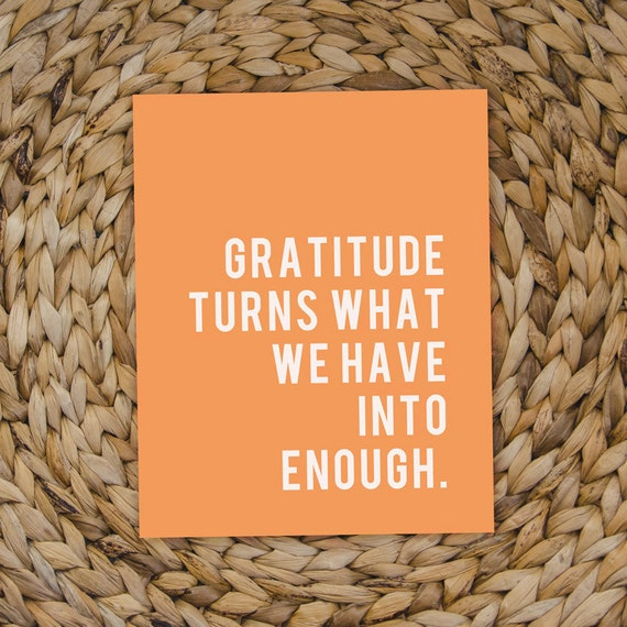 "Gratitude Inspirational Quote -- Digital File -- 8x10"" -- Thanksgiving Printable"