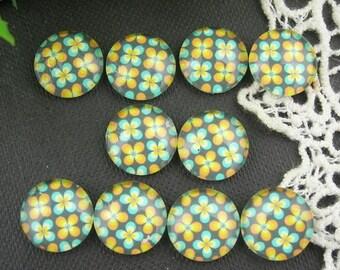 10pcs (12mm ) Handmade Photo Glass Cabochons - (T1201)