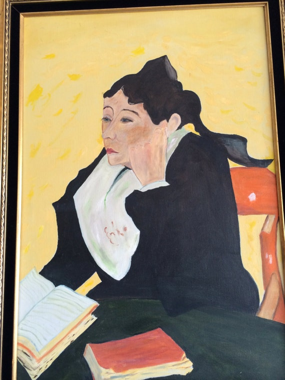 "REPRODUCTION VAN GOGH Portrait of Madame Ginoux painted by ""Mike"""