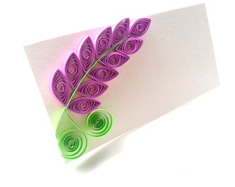 Wedding Place Cards / Lilac Seating Cards / Escort Cards / Purple Wedding Table Decor