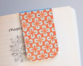 Magnetic Bookmark, Laminated, Blue, Orange, Pattern, Unique, Ready To Ship