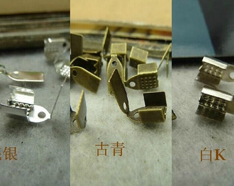 100pcs 4x9 mm The Cap  Buckle White/Silver/Bronze (can choose) Retro Pendant Charm For Jewelry Pendant C4236