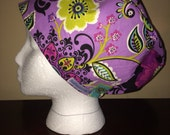 Women's Pixie or Less Is More Scrub Cap in Molly Dinkin Floral
