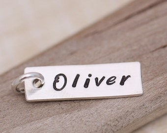 ONE Name Charm, Personalized Necklace, Personalized Jewelry