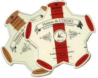 Lecien Pentagon Cardboard Embroidery Floss Bobbins-3 Packs of 2 each (125501)