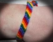 Rainbow Gay Pride LGBTQ Bracelet Yarn