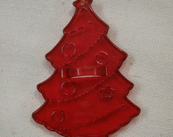 Christmas TREE Cookie Cutter Red Plastic HRM Circa 1960s Just like Moms