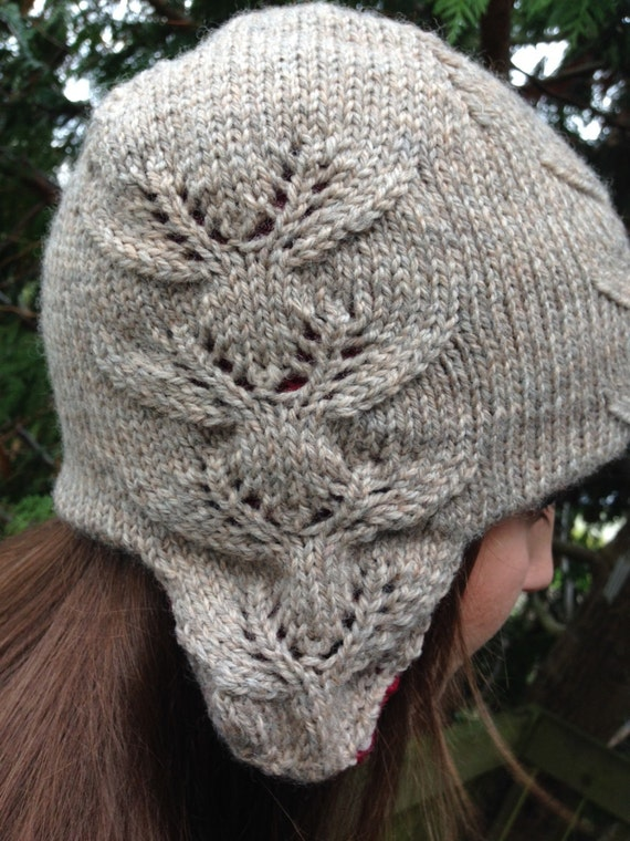 eight tiny reindeer ear flap hat knitting pattern by dmwKnits