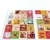 French Illustrations Postage Stamp Stickers, Le Prince Sticker Set
