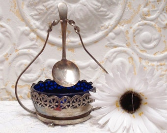 Victorian Condiment England Ornate Silver Plated
