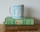 NOW REDUCED Blue Flora Porcelain Mug