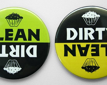 Dishwasher Magnet - Dirty or Clean - Cupcake