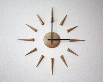 "Big large DIY diy self adhesive wood wall clock ""Arrows """