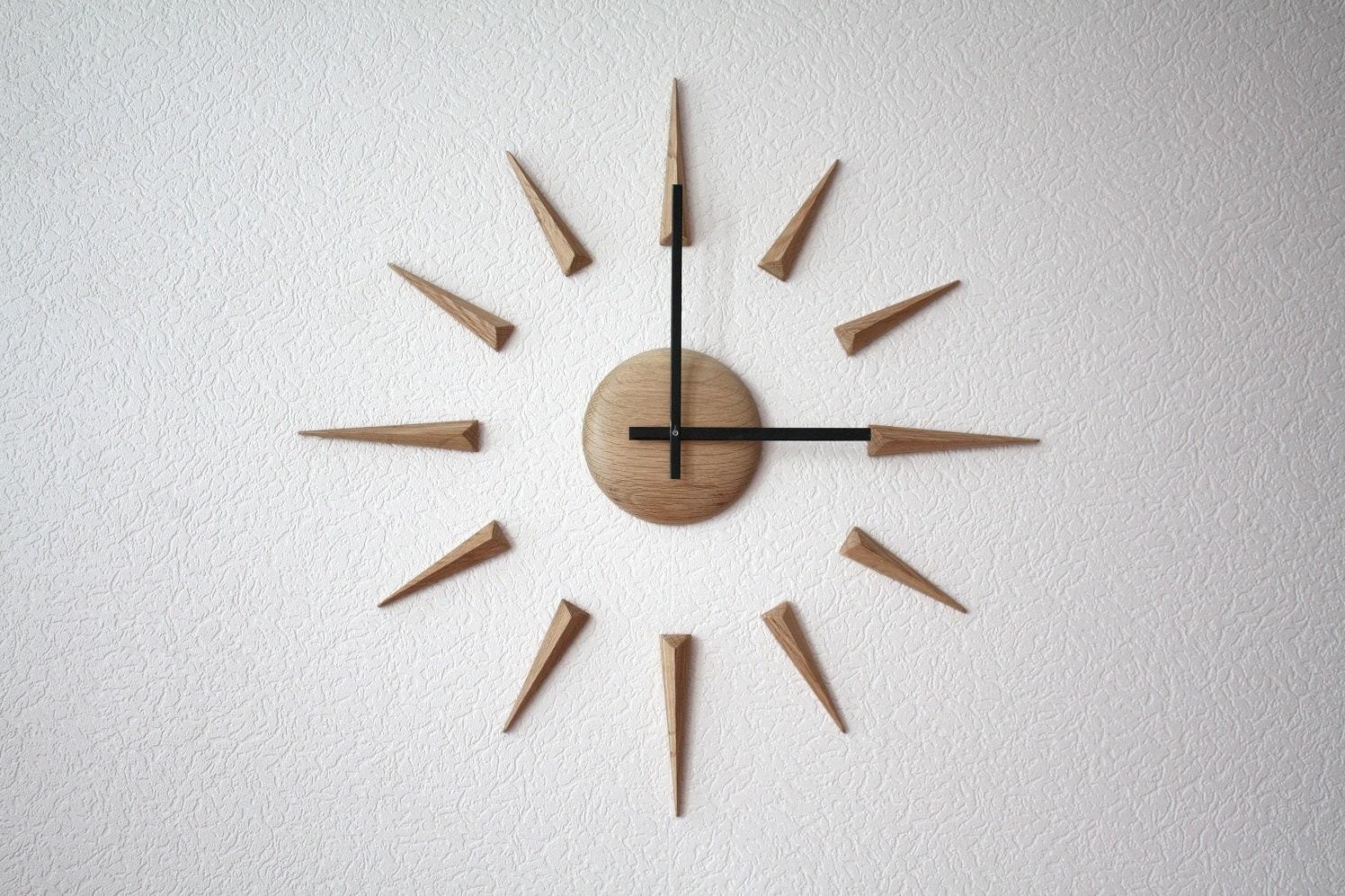 Big large DIY diy self adhesive wood wall clock Arrows
