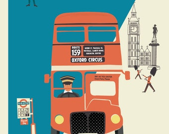 A3 London Bus Giclée Print