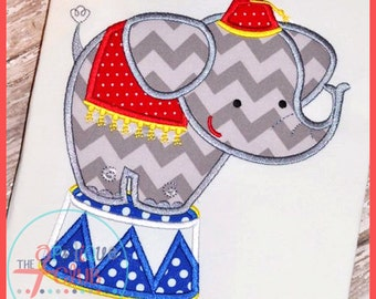 Peanuts, Get your Peanuts - Circus Elephant Personalized Appliqued Shirt