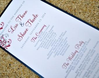 Wedding Programs - Wedding Ceremony Cards - Ceremony Programs - Weddings