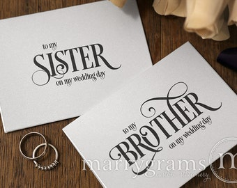 ... Cards - To My Sister-in-Law, Brother-in-Law On My Wedding Day CS06
