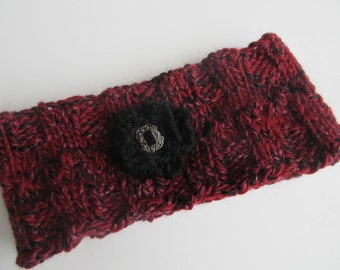 Red Wool Knit Headband