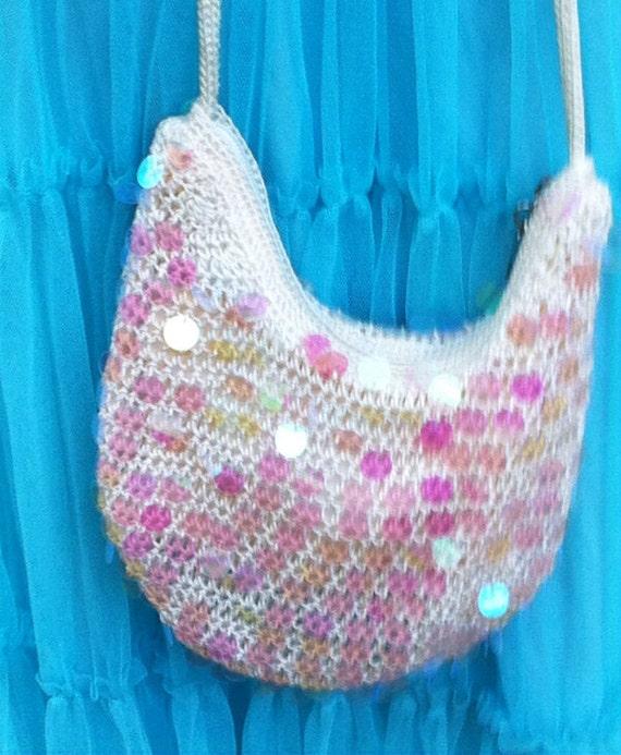 Vintage The Sak crochet evening bag purse prom by ThelmaThrift