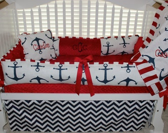 navy baby bedding | etsy