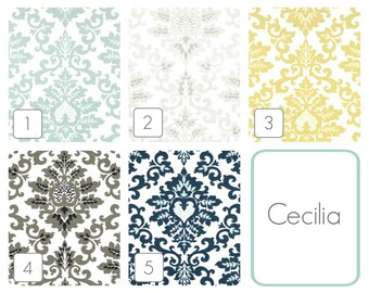 Cecilia Floral Curtain Panels. 63, 84, 96, 108, 120 Lengths. Blue, Gray, Yellow, Black, Blue Window Treatments. Drapery Curtains.