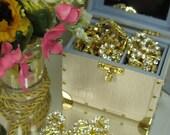 Small 8mm Rhinestone Buckles for Dolls, Barbie Fashions, Silkstone, Fabric, Ribbon Slides