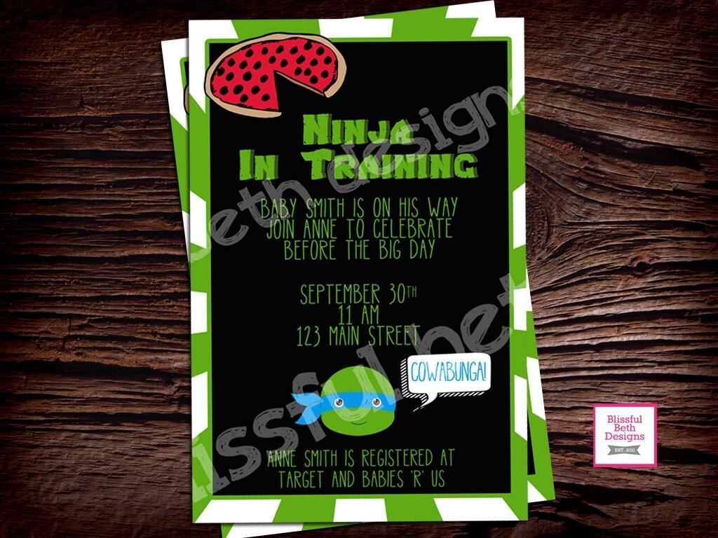 tmnt baby shower teenage mutant ninja turtle baby shower