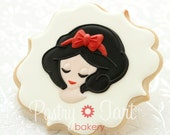 Snow White Cookies Disney Princess - 1 doz - Girl Birthday