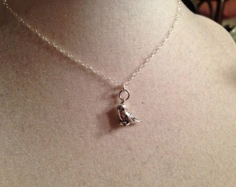 Bird Necklace - Sterling Silver Necklace - Children Jewelry - Chain Jewelry - Fashion Jewellery - Style