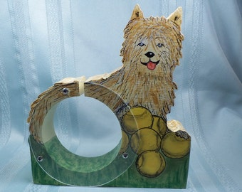 Cairn Terrier Wooden Bank - Free Personalization
