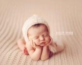 PDF Knitting Pattern - newborn photography prop fuzzy bonnet #21