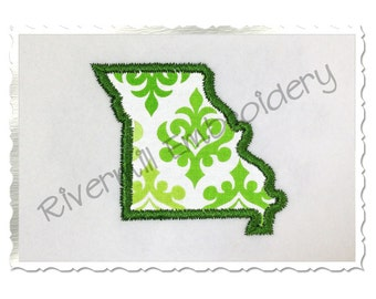 Small State of Missouri Applique Machine Embroidery Design - 3 Sizes