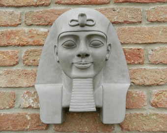 Egyptian Pharaoh Ramses II - the great, Sculpture, Garden Ornament, Wall Hanging, statue, Very Detailed