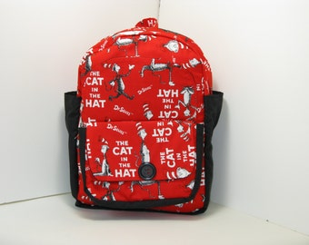 The Cat in the Hat in Red & Black Preschool Backpack