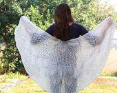 Women's wrap pattern Knit shawl Pattern Tutorial, Lace shawl pattern Shawl pattern Wedding shawl Instant download