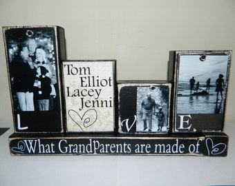 Grandparent gift grandma grandpa personalized photo gift grandchildren gift personalized Christmas gift mom and dad gift family photos gift