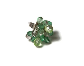 CLEARANCE...Green Cluster Ring