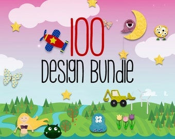 100 PDF Small Business Commercial Use / Iron on Transfer or Applique Pattern Bundle - Kids Boys Clothing Shirt / Cute Baby Clothes / Quilt